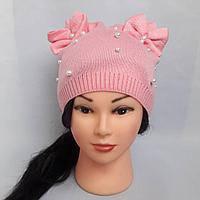 Вязаные шапки для девочки весна-осень 2018