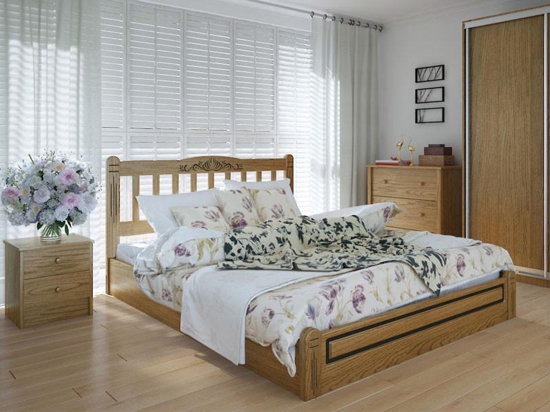 Кровать MeblikOff Вилидж Люкс с механизмом (140*190) дуб