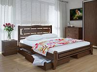 Кровать MeblikOff Осака Люкс с ящиками (140*200) ясень