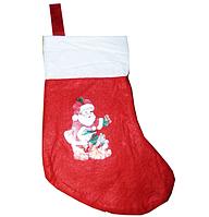 Носок рождественский с рисунком