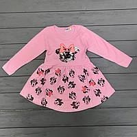 Детское Платье с пайетками для девочек оптом р.1-8 лет