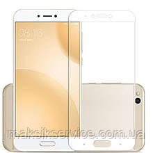 Защитное стекло Full Screen для Xiaomi Mi 5c белое