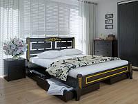 Кровать MeblikOff Пальмира Люкс с ящиками (160*190) дуб
