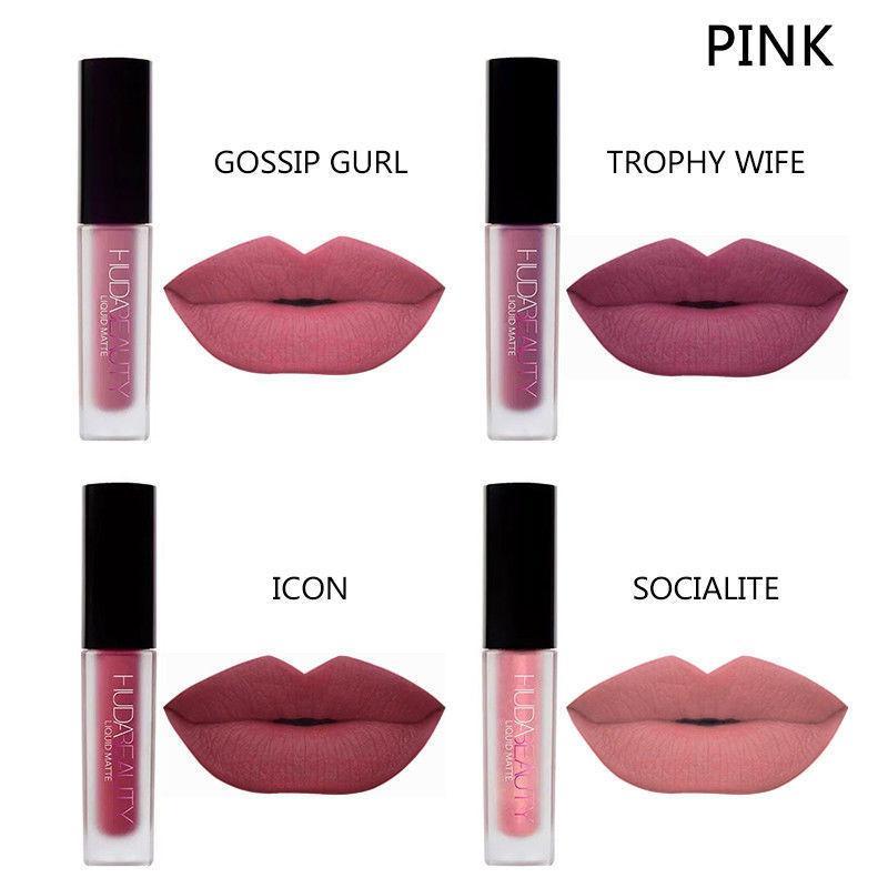 Набор жидких матовых помад Huda Beauty Liquid Matte Lipstick The Pink Edition копия