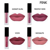 Набор жидких матовых помад Huda Beauty Liquid Matte Lipstick The Pink Edition копия, фото 1