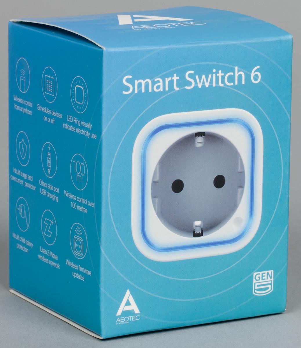 ZW096 розетка Aeotec Smart Switch 6, Z-Wave, AC 230V 13A + USB 5V 1A