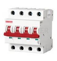 Модульний автоматичний вимикач e.industrial.mcb.100.3N.C63, 3р+N, 63А, C, 10кА