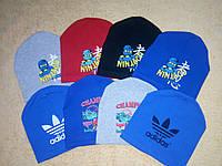 Детская шапка демисезонная шапочка  для мальчика Адидас, Нинзяго