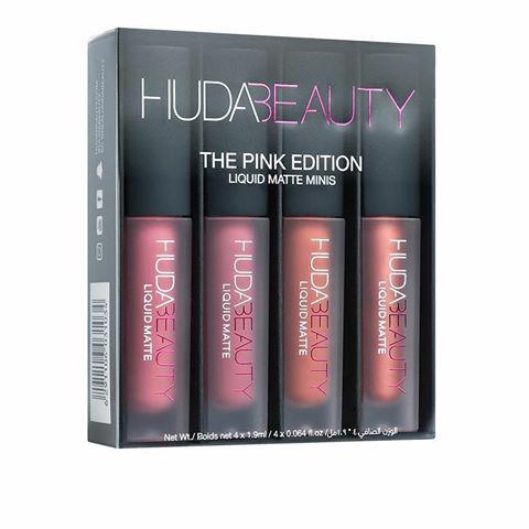 Набор жидких матовых помад Huda Beauty Liquid Matte Lipstick The Pink Edition
