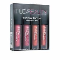Набор жидких матовых помад Huda Beauty Liquid Matte Lipstick The Pink Edition, фото 1