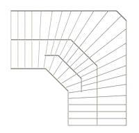 Полка угловая проволочная 600х306 мм (белая). Консольная система хранения. Кольчуга