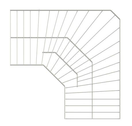 Полка угловая проволочная 600х306 мм (белая). Консольная система хранения. Кольчуга, фото 2