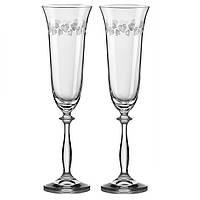 Свадебные фужеры для шампанского Bohemia ANGELA 190 мл (Богемское стекло)