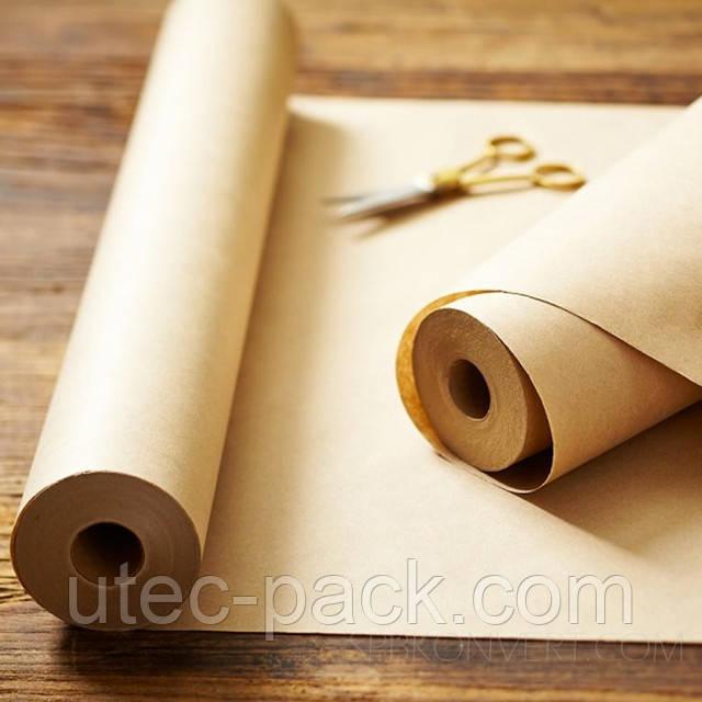 Пакувальна крафт папір в рулоні 3 кг щільність 80 г/м2