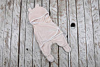 Детский спальник с ушками  Мишка белый, 0-6мес