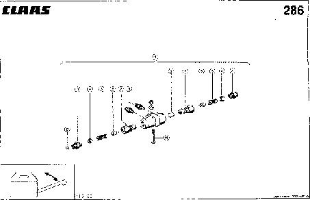 ГИДРОЗАМОК - CLAAS MEGA 202 II
