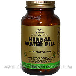 Solgar herbal water pill 100 рослинних капсул