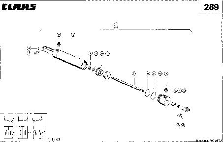 ГИДРОЦИЛИНДР - CLAAS MEGA 202 II