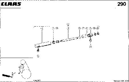 ГИДРАВЛИЧЕСКИЙ ЦИЛИНДР, ВКЛЮЧЕНИЕ МОЛОТИЛКИ - CLAAS MEGA 202 II