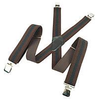 Подтяжки коричневые в полоску для мужчин Top Gal 40-X комб/см С
