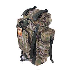 Туристический армейский супер-крепкий рюкзак на 75 литров мультикам. Армия, рыбалка, спорт, туризм, охота.