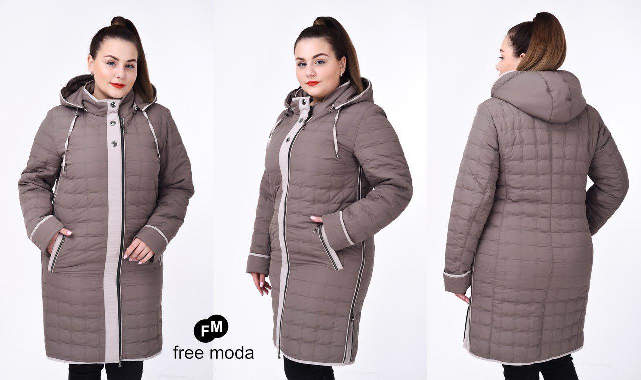 2f0ac756a5c Удлиненная женская демисезонная куртка (размеры 54-60) - Интернет-магазин  «ПЕРЕМЕНА