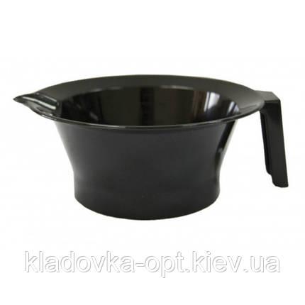 Миска для покраски волос с ручкою чёрная, фото 2