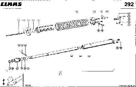 ЦИЛИНДР ЖАТКИ - CLAAS MEGA 202 II
