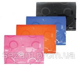Папка на гумках, А4, РР, 550мкн, ROMANTIC, рожева., 5607, SOZ