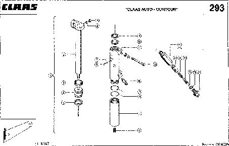 ГИДРОЦИЛИНДР, АВТОКОНТУР CLAAS - CLAAS MEGA 202 II