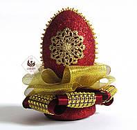 Декоративное яйцо Бордо ручная работа VIP подарок, фото 1