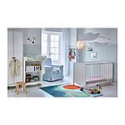 Кроватка детская IKEA SOLGUL 60x120 см белый 903.624.12, фото 4