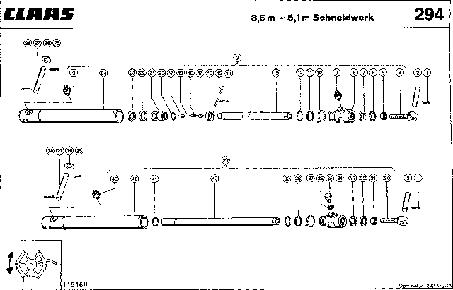ЦИЛИНДРЫ МОТОВИЛА - CLAAS MEGA 202 II