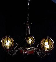 Люстра на 3 лампочки (темная)