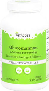 Глюкоманнан, коньякоманнан -растворимая клетчатка  180 капс по 660 мг