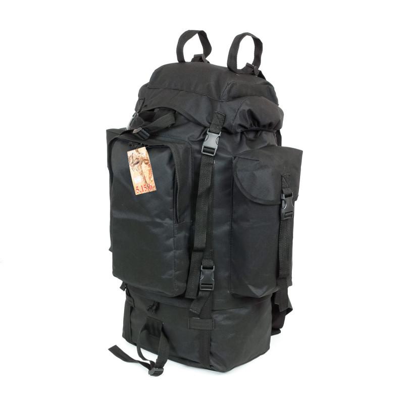 Туристический армейский супер-крепкий рюкзак на 75 литров чёрный
