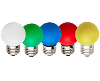 Светодиодная LED лампа Feron LB-37 1w 220v Е27 белая, цветная