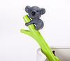 Ручка гелевая  коала на бамбуке, фото 2