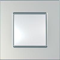 Рамка Schneider-Electric Unica Quadro 1-пост Metallized Серебряный MGU6.702.55