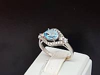 Серебряное кольцо Прага с топазом. Артикул 1579/9р, фото 1
