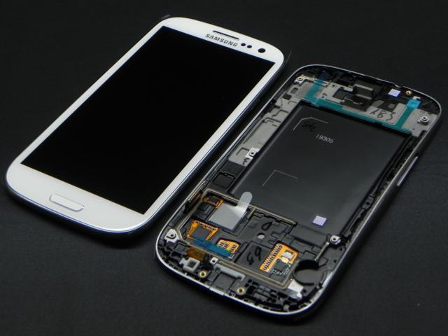 Дисплей модуль Samsung I9305 Galaxy S3 в зборі з тачскріном, білий