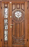 Входная дверь Престиж милита ковка дуб золотой патина темная