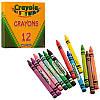 Crayola цветные восковые мелки карандаши, в наборе 12 цветов, Крайола