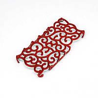 Чехол на iPhone 4/4s Pattern Curl бордо пластик 403807