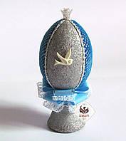 Декоративное яйцо Голубое серебро (пасхальное яйцо), фото 1