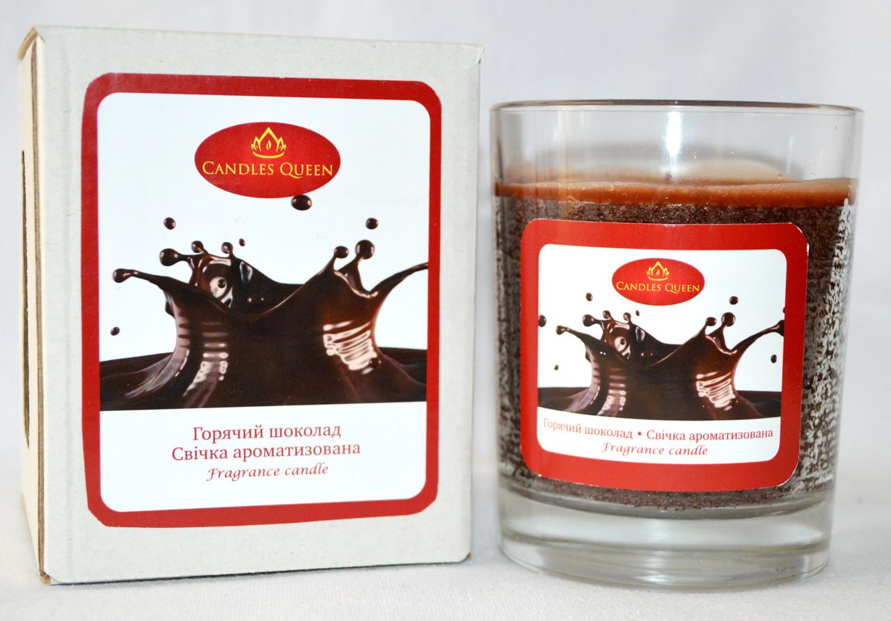 Свеча ароматизированная в стекле Горячий Шоколад