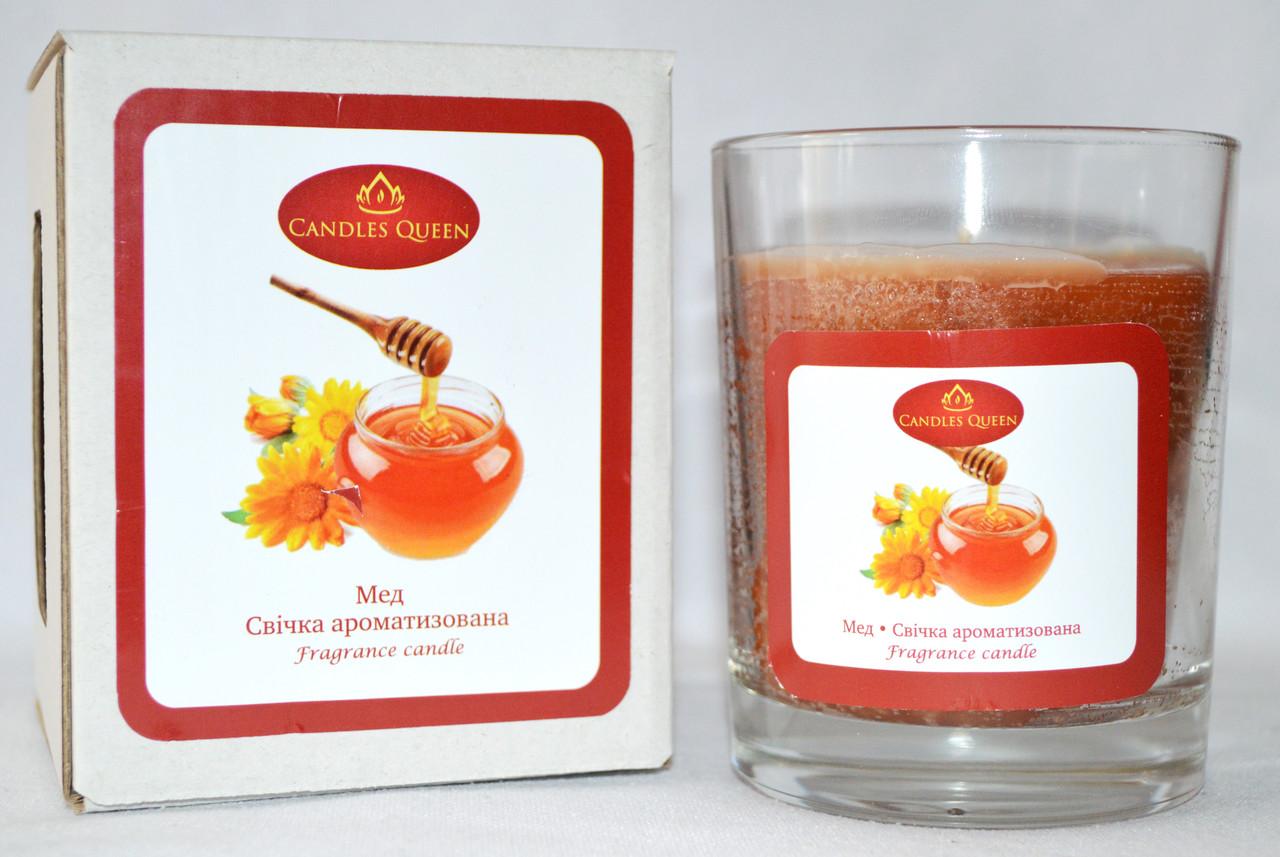 Свеча ароматизированная в стекле Мед