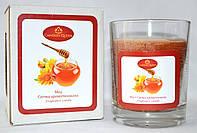 Свеча ароматизированная в стекле Мед, фото 1