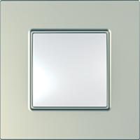 Рамка Schneider-Electric Unica Quadro 1-пост Metallized Титановый MGU6.702.57