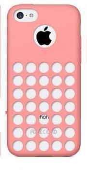 Розовый силиконовый чехол с отверстиями для Iphone 5С